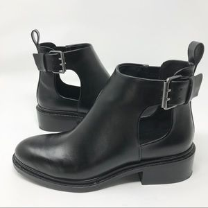 Zara Basic ankle boots with cutout